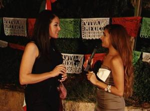 Elle Fersan with Anchor Marie Noelle Khattar