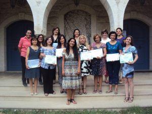 Elle Fersan, Crystel El Chayeb, Swaleen Abboud and Microsoft 101 Program Graduates
