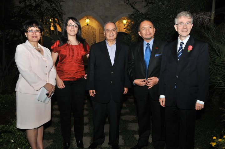 Guita Hourani, Elle Fersan, Mayor Nouhad Naufal, Philippino Ambassador, Dr. Clearance Smith