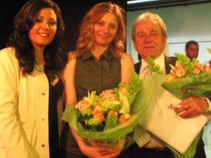 Elle Fersan, writer Samar Yazbeck and actor Jihad Elatrash