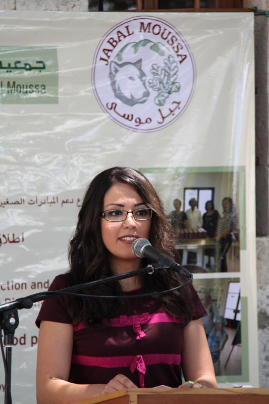 Elle Fersan at Association for the Protection of Jabal Moussa (APJM) event