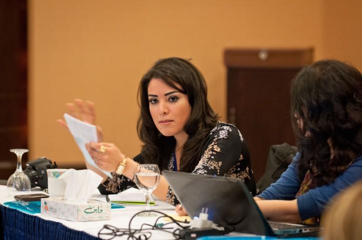 Elle Fersan at DAWRAK Citizens for Dialogue conference, Dead Sea - Jordan, 2012