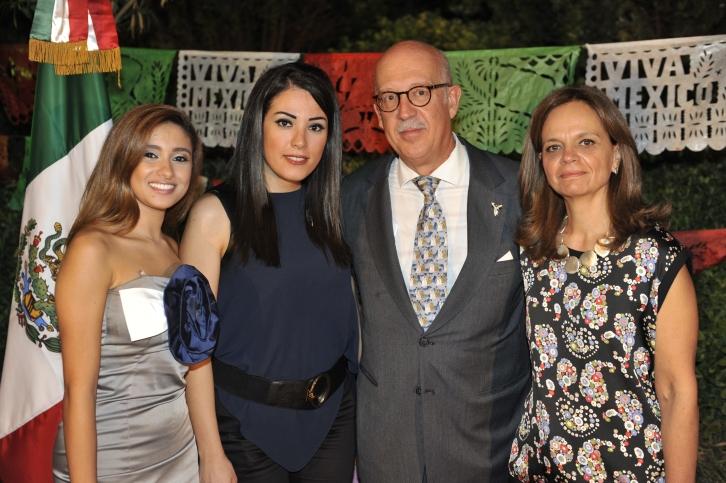 Marie Noelle Khattar, Elle Fersan, Ambassador Jorge Alvarez Fuentes and his spouse