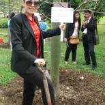 Elle Fersan at Guangzhou International Award for Urban Development tree planting ceremony