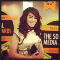 Elle Fersan at the Social Media Awards Ceremony Red Carpet