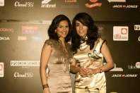 Marina Chamma and Elle Fersan at the Social Media Awards Ceremony Red Carpet