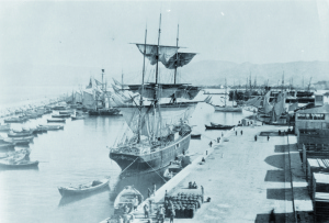 One of the first ships to take Lebanese people to Brazil